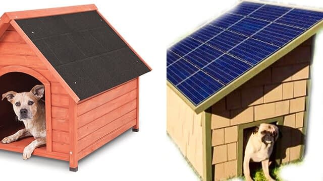 Difference between Regular Dog House Solar Heated Dog House