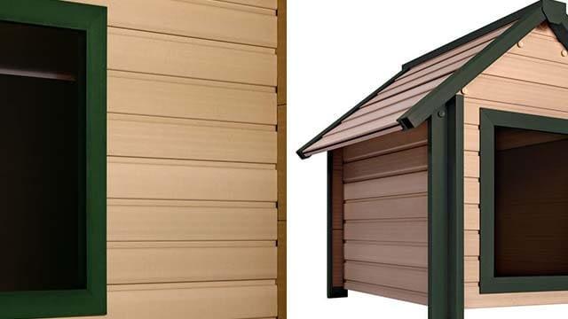 Pet ecoFLEX Rustic Lodge Style Dog House