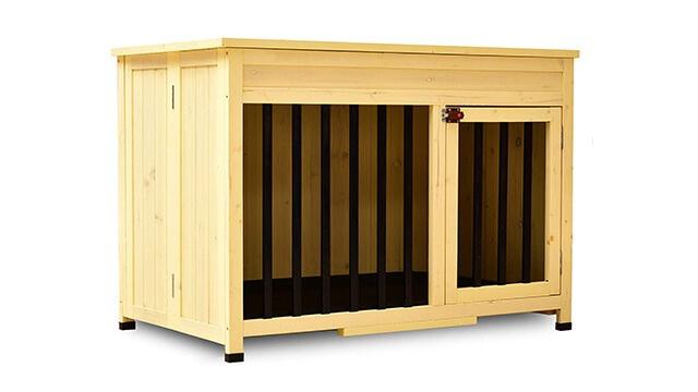 Indoor wooden dog house