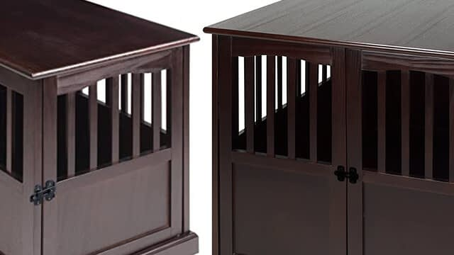 Casual home wooden end table dog crate